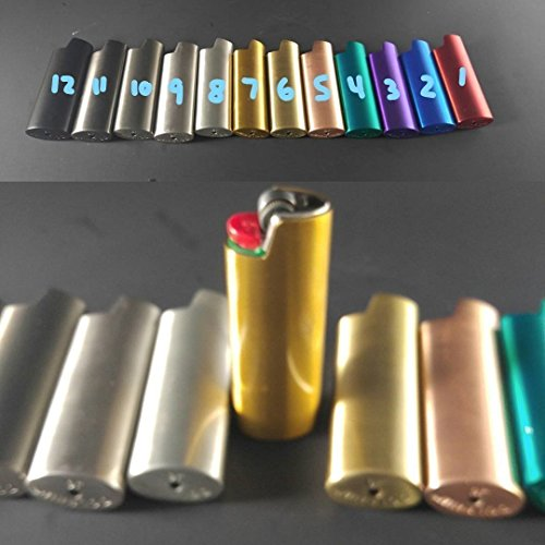 BIC Lighter Cover Metal Blank -Custom & Many Colors by Custom Cuts and Creations LLC