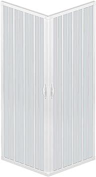 RL Mampara de Ducha 80x100 CM Rectangular de PVC Mod. Acquario con Apertura Central: Amazon.es: Hogar