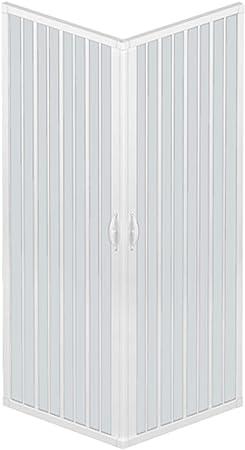 RL Mampara de Ducha 80x100 CM Rectangular de PVC Mod. Acquario con ...