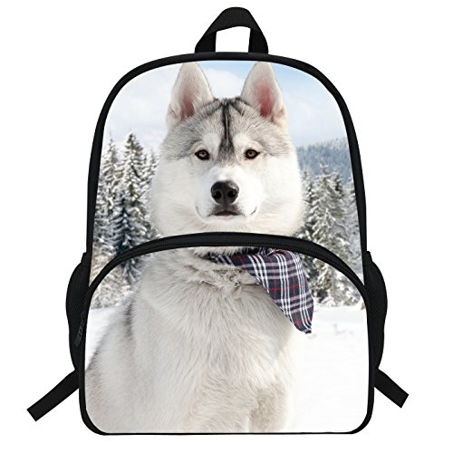 Price comparison product image VEEWOW 16 Inch Husky Dog School Backpack Animal Bag Children (D959)