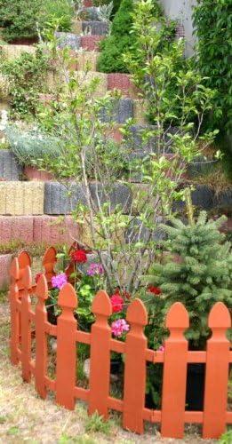 Valla delimitadora, de Woolux Garde, para el jardín, 1, 95 m x 55 cm, color terracota: Amazon.es: Jardín