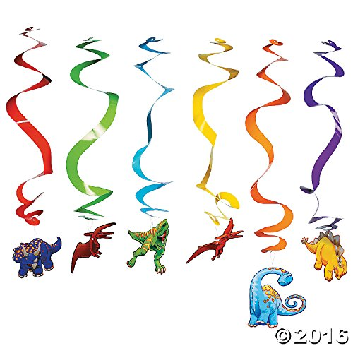 Dinosaur Hanging Swirl Party Decorations