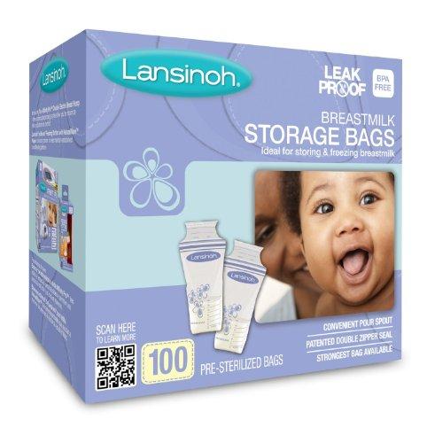 Lansinoh Breastmilk Storage Bags, 100 Count (2)