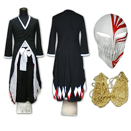 Smile Style Bleach Kurosaki Ichigo Arrancar Cosplay Costume Sword
