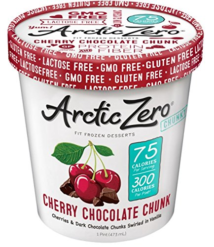Arctic Zero Fit Frozen Desserts, Cherry Chocolate Chunk, 16 Ounce (Pack of 6)