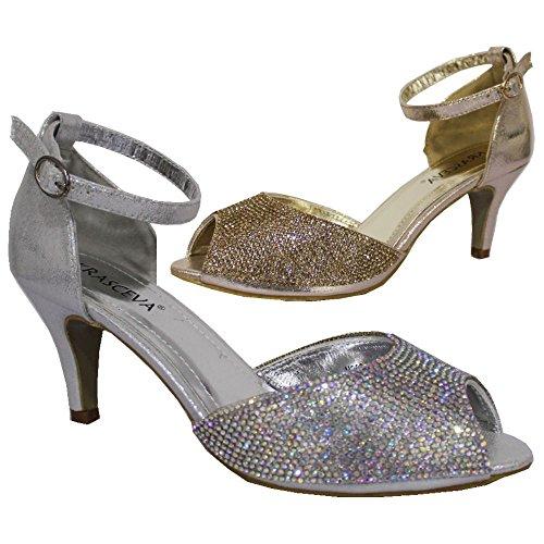 Absolutely Gorgeous Boutique - Zapatos de tacón  mujer Plateado - plata