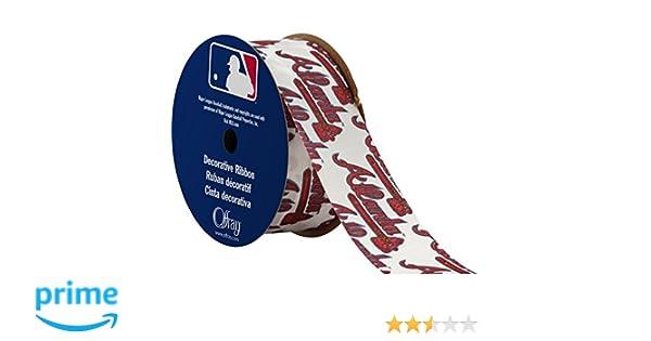 Offray MLB Atlanta Braves Fabric, 1-5/16