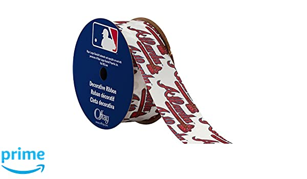 Offray MLB Atlanta Braves Fabric, 1-5/16