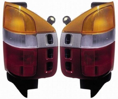 Go-Parts Pair/Set - Compatible 1998-2002 Honda Passport Rear Tail Lights Lamps Assemblies/Lens / Cover - Left & Right (Driver & Passenger) Side Replacement for Honda Passport -