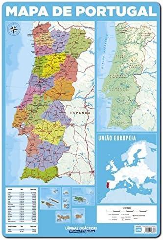 Grupo Erik Editores Lamina Didactica en Portugues Mapa De Portugal: Amazon.es: Oficina y papelería
