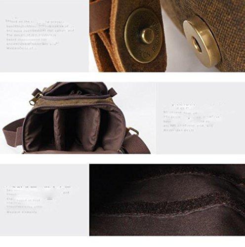 Gray Bag Bag Retro Men Bag Messenger Camera Shoulder Canvas 85Cwp5q