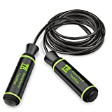 TechRise Skipping Rope, Speed Skipping Jump Jumping Rope with Skin-friendly Handle and Adjustable Soft Rope for Fitness Workouts Fat Burning Exercises and Boxing
