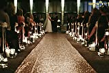 ShinyBeauty Aisle Runner-25FTX4FT-Champagne,aisle runner outdoor wedding,aisle runner for wedding,Sequin Aisle Runner,Sequin Aisle Runner Fabric (Champagne)