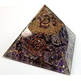 Charged Gemstone Orgone Pyramid – Certified Orgonite® Healing Crystals and Copper Amethyst Bio–Energy Enhancing Tool by Beverly Oaks