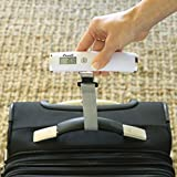 Escali Velo 11050W Hanging Digital Readout Portable Travel Compact Luggae Scale, 110lb Capacity, White