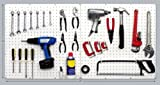 PEGBOARD PANELS by WallPeg - Peg Board Plastic Pegboard Kit 24''x24'' (12, White)