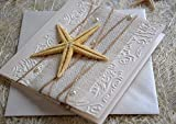 Pocket Beach Wedding Invitation (natural big starfish) - SAMPLE