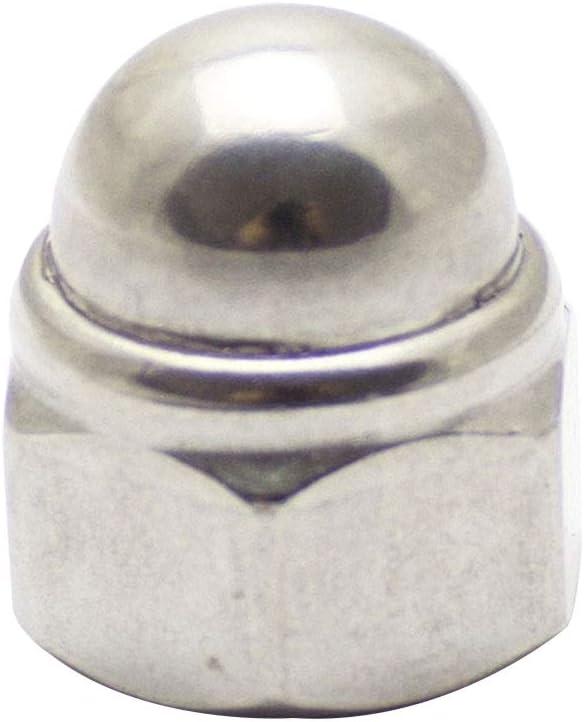 Edelstahl A2 - - Selbstsichernde Sechskantmuttern V2A DIN 986 Sicherungsmuttern Klemmmuttern D/´s Items/® Stopmuttern M16 2 St/ück Sechskant-Hutmuttern