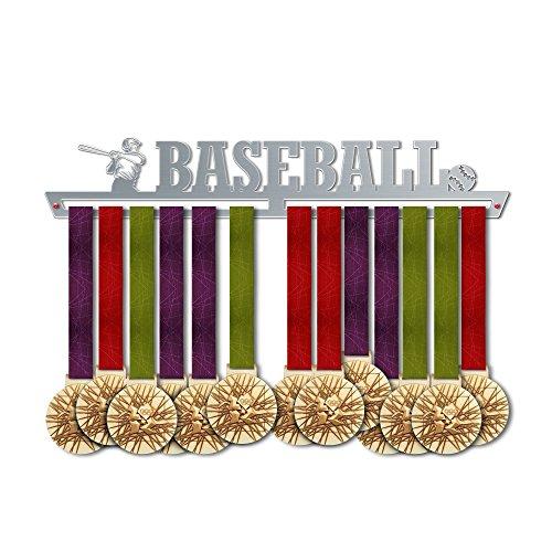 VICTORY HANGERS Baseball Medal Hanger Display V2 - Wall Mounted Award Metal Holder - 100% Stainless Steel Rack for Champions ()