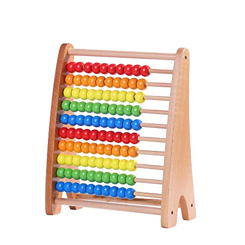 Wondertoys Wooden Abacus Counting With 100 Beads Math Educational Toys For Children