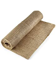 """Natural Burlap Fabric, 40"""" x 5 Yard No-Fray Fall Table Runner w/Finished Edges - Jute Burlap Roll for Wedding Decor, Halloween Table Runner, Tree Wrap, Placemats, Art and Crafts, Rustic, Landscaping"""