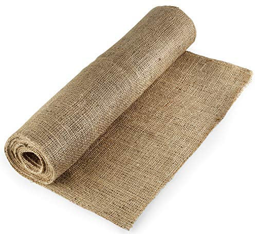 "Natural Burlap Fabric (40"" x 5 Yards)-NO-FRAY Burlap Roll-Long Fabric with Finished Edges. Perfect for Weddings,Tree Wraps For Winter,Table Runners, Placemat,Crafts, and More.Decorate Without The Mess!"