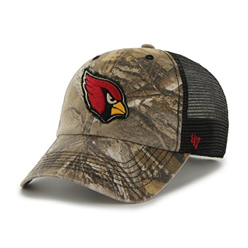 NFL Arizona Cardinals '47 Huntsman Closer Camo Mesh Stretch Fit Hat, One Size, Realtree Camouflage