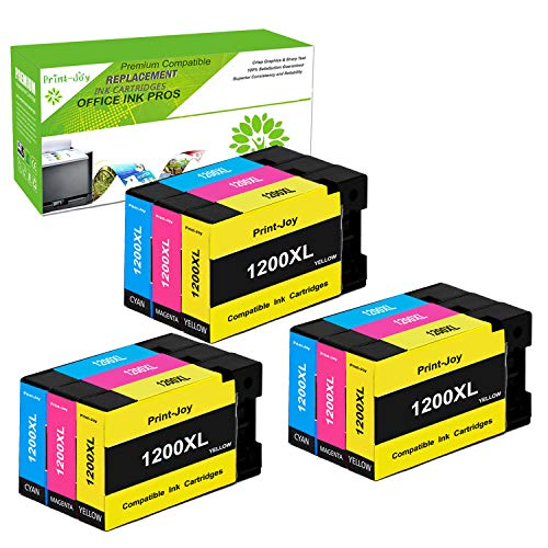(Print-Joy Compatible Ink Cartridge Replacement for Canon PGI-1200 XL PGI-1200XL PGI1200XL to use with MAXIFY MB2020 MB2320 MB2120 MB2720 MB2350 MB2050 (3C, 3M, 3Y) 9-Pack)