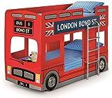 Julian Bowen London Bus Bunk Bed - UK Single, Red