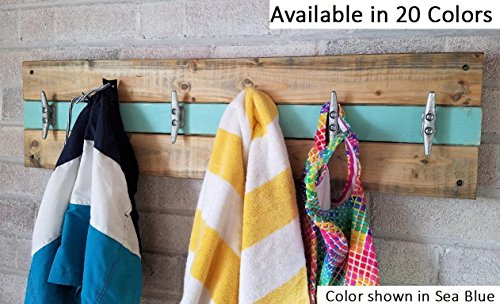 Beach House Coat Rack - Wall Hooks - Coat Rack - Entryway Organizer - Coat Rack Wall - Towels and Bathing Suits - Beach house decor - Beech