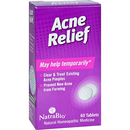 NatraBio Acne Relief - Natural Homeopathic Medicine - 60 Tablets