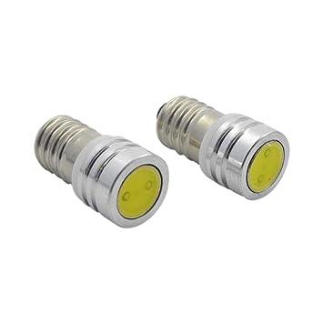 Ruiandsion - 4 bombillas LED E10 COB de 3 V CC, 20 lúmenes, para linterna, luz interior, panel indicador, luz: Amazon.es: Coche y moto