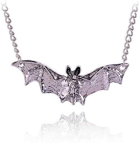 Fashion Rope Enamel Bat Pendant Necklace Unisex Gothic Jewelry Halloween Gifts