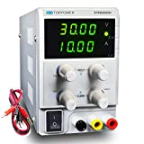 Bench DC Power Supply 30V 10A Variable Lab Power Supply Adjustable 4-bit High-Precision Display Regulated with Alligator Cable