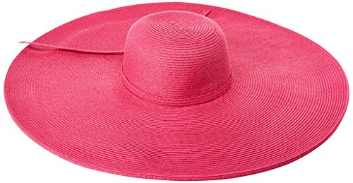 (San Diego Hat Company Women's Ultrabraid Extra Large Brim Floppy Hat with SPF Protection, hot Pink, One)