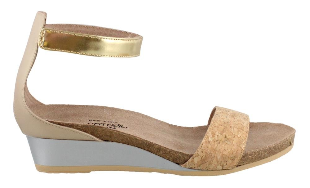 Naot Footwear Women's Pixie Gold Cork Leather/Champagne Leather/Gold Leather 38 M EU by Naot Footwear