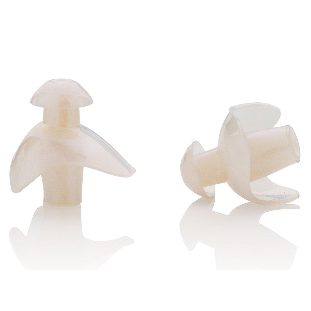 KONA81 Barracuda Tapones para los o/ídos para nataci/ón Silicona Resistente al Cloro Impermeable Blando Flexible Adulto Hombre y Mujer Ni/ño Chico E0170 Blanco//Azul