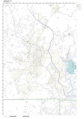Amazon.com: ZIP Code Wall Map of Cartersville, GA ZIP Code Map Not