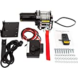 2500lbs DC 12V Electric Recovery Winch Fit for SUV Truck Car with Wireless Remote Control Kit