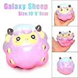 Sunsee Decompression toys Kawaii Jumbo Cartoon Starry Sheep Squishy Slow Rising Cream Scented Decompression Squeeze Toys For Collection Gift, Decorative Props Large Or Stress Relief (Pink)