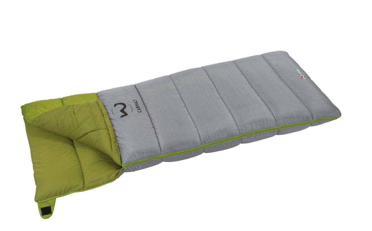 Wilsa Carnac saco de dormir unisex, Sac de Couchage Rectangulaire, gris/verde, 210x85cm: Amazon.es: Deportes y aire libre