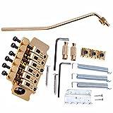 Feamos 1Set Awesome Gold Tremolo System Double Locking Floyd Rose Guitar Tremolo Bridges Rock