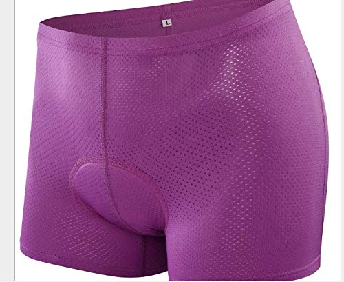 2018 Women Cycling Underwear 3D Gel Padded Bike Bicycle Shorts Comfortable Cycling Shorts Under Clothing Special Purple&Ropseink (l, purple) by MIXLITE