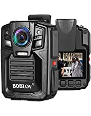 BOBLOV HD66 Body Worn Camera IP67 Waterproof 1296P Wearable Camera Audio & Video Recorder 170° Wide Angle IR Night Vision with 360° Rotation Clip (128GB) (128GB)