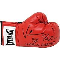 $71 » Vinny 'Paz' Pazienza Signed Everlast Red Boxing Glove w/5x World Champ