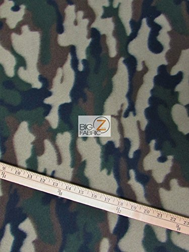 ARMY CAMOUFLAGE PRINT POLAR FLEECE FABRIC 60 WIDTH SOLD BY THE YARD 214 by Big Z Fabricの商品画像