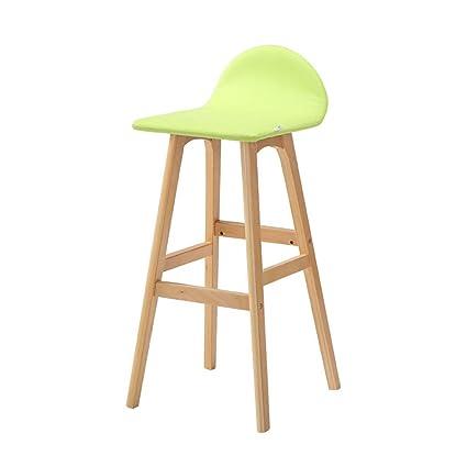Bar Chairs American Solid Wood Bar Chair European Bar Chair Retro Stool Backrest Front Desk Bar Chair High Stool Elegant Appearance