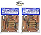 72 Coin Roll Wrappers. Assortment Pack, Penny, Nickel, Dime, and Quarter. Money Storage Counter. Coin Wrappers Office Bank Desk School Supplies Set