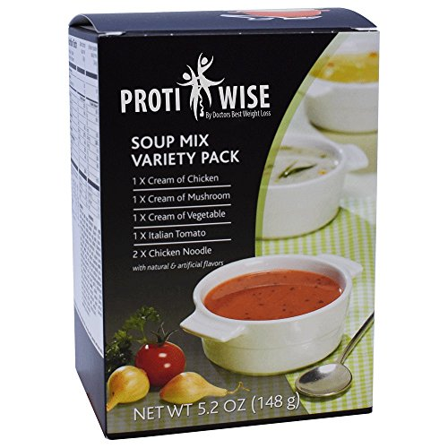 ProtiWise - Variety Pack High Protein Diet Soup - Food Products Bariatric