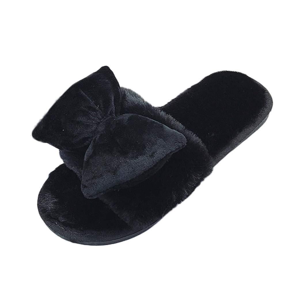 Vototrade ♬ Ladies Open Toe Slip Home Pantofole, Le Signore della Moda Inverno Comode Pantofole Calde Casa Piatte